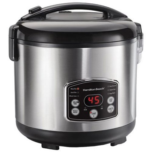 Hamilton Beach Digital Simplicity 7 Cups uncooked resulting in 14 Cups Cooked Rice Cooker and Steamer, (37549)
