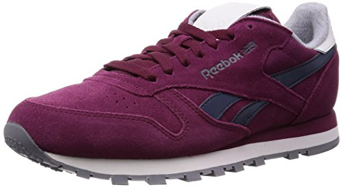 Basses Suede Leather what Reebok gravel Wine Red rustic Homme shark collegiate Navy Rouge Classic Baskets xSIqw1q