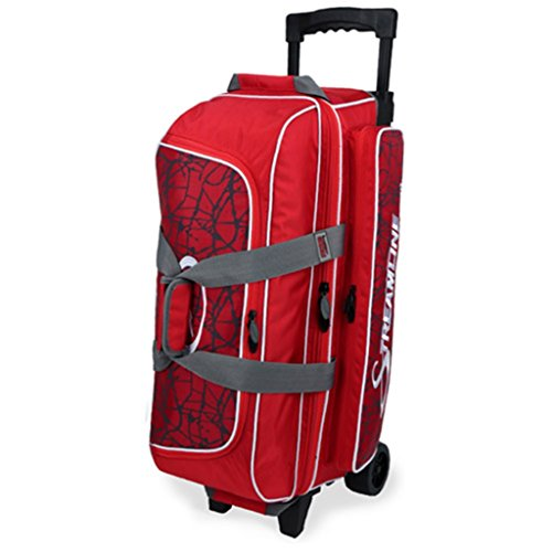 Storm Streamline 3 Ball Roller Bowling Bag Red Crackle/Red by Storm