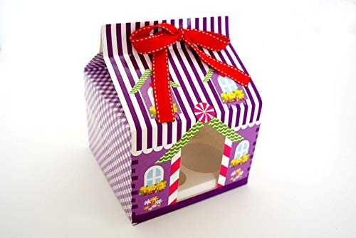 DishyKooker New Year 2015 Christmas 4 Hole Cupcake Packaging Box/Christmas Cake Box/Cake Carry Holder Open Window with Ribbon Show by DishyKooker (Image #5)