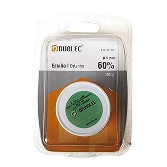 Duolec 1347B100 - Estaño Bobina 60% 1Mm 100Gr Duolec: Amazon.es: Industria, empresas y ciencia