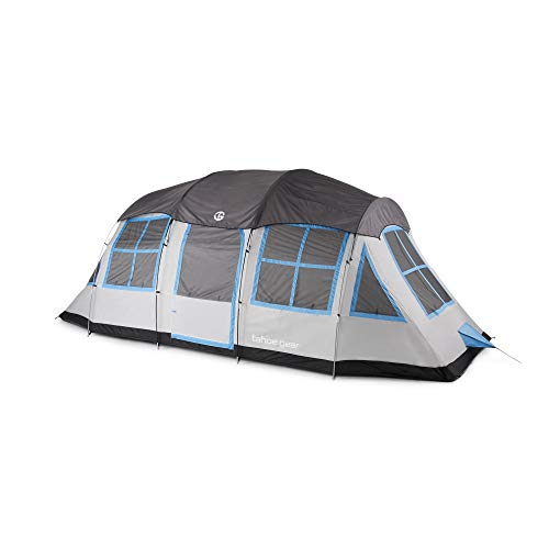Heavy Duty Camping Tents - Tahoe Gear Prescott 12 Person 3 Season Instant Outdoor Family Camping Cabin Tent