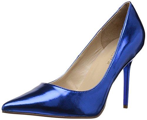 Blue 20 Classique Metallic Tacones Mujer Pleaser Pu wqfTAC