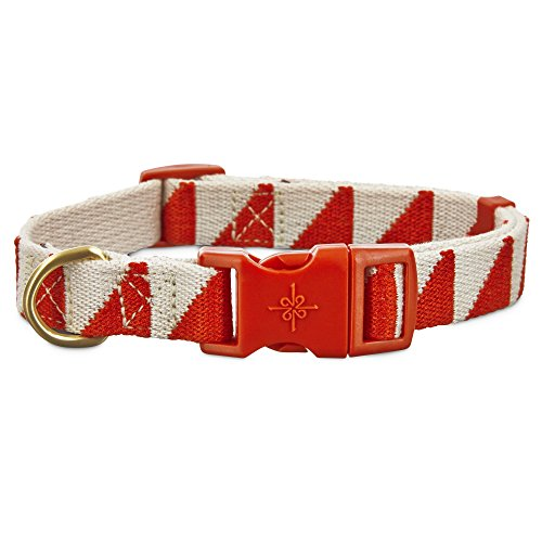 Good2Go Geometric Triangle Dog Collar in Red and Cream, Medium