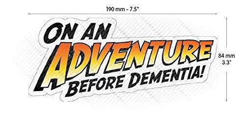 HastingsDesigner FC ADVENTURE BEFORE DEMENTIA Funny Car,Caravan,Camper,Bumper Vinyl Decal Sticker
