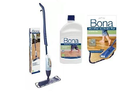 Bona Hardwood Spray Mop with Polish Applicator - Bona Curve Mop