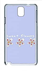 Samsung Galaxy Note 3 N9000 Case, iCustomonline Sweet Flowers Case for Samsung Galaxy Note 3 N9000