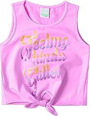 Blusa Estampada com amarração, Malwee Kids, Meninas