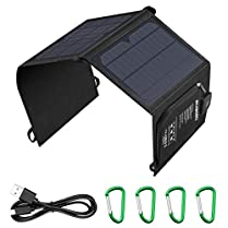 SUAOKI Cargador Panel Solar 21 w 5