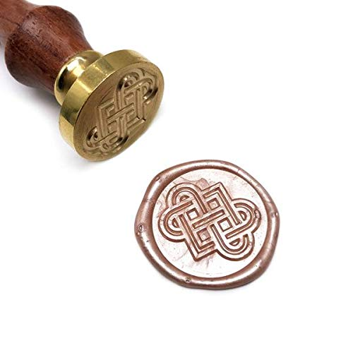 UNIQOOO Arts & Crafts Celtic Knots Wax Sealing Stamp, Great Embellishment of Cards, Envelopes, Wedding Invitations, Wine Packages, Gift Idea Celtic Knot Wedding Invitations