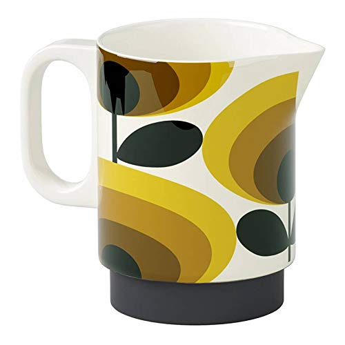 Orla Kiely Yellow 70s Oval Flower Milk Jug