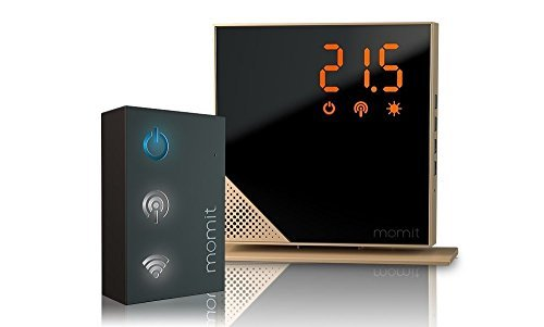 momit Home Thermostat Starter Kit (Thermostat + Gateway) - Luxury Gold by momit