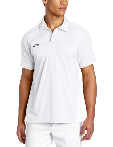Asics Men's Broc Polo, White/White, Large