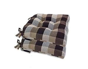 Amazon Com Arlee Buffalo Check Chair Pad Seat Cushion