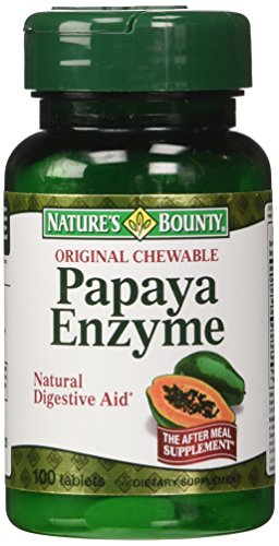 Nature's Bounty Original Papaya Enzyme, 100 (Papaya Enzyme 100 Chew)