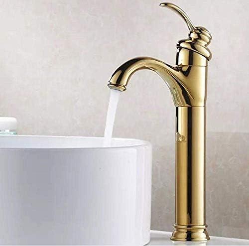 ZJN-JN 蛇口 バスルームのシンクは、スロット付き浴室の洗面台のシンクホットコールドタップミキサー流域の真鍮シンクミキサータップ非震とう浴室蛇口アンティーク蛇口真鍮蛇口の高足蛇口レトロ蛇口をタップ 台付