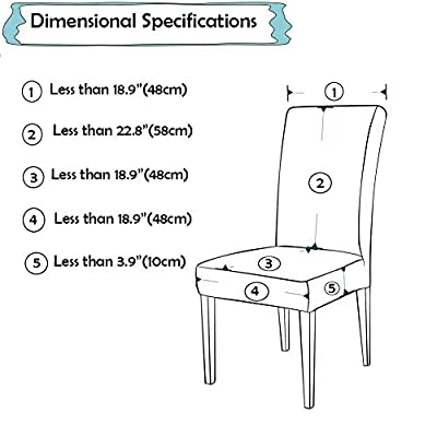 MeMoreCool Simple Europe Style Super Fit Stretch Removable Washable Short Chair Protector Cover Seat Slipcover Hotel, Dining Room, Ceremony, Banquet Wedding Party 2PC