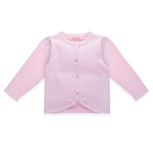 Mornyray Little Girls Fine Knit Cardigan Sweaters Thin Basic Crew Neck Solid by Mornyray (Image #6)