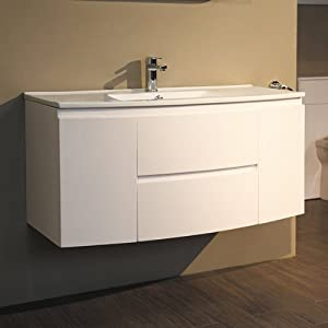 1000 vanity unit with basin for bathroom ensuite wall hung soft