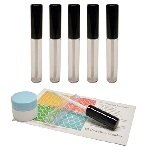 Clear 11 Milimeter Empty Lip Gloss Tubes Black Caps  with Fu