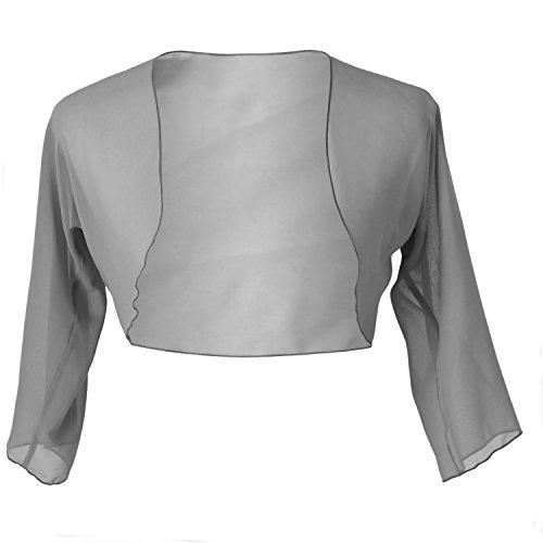 Faship Chiffon 3/4 Sleeve Bolero Shrug Cardigan Top
