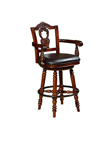 Ashley Furniture Signature Design North Shore Tall Uph Swivel Barstool 1 Cn   Dark Brown Finish Pub Height