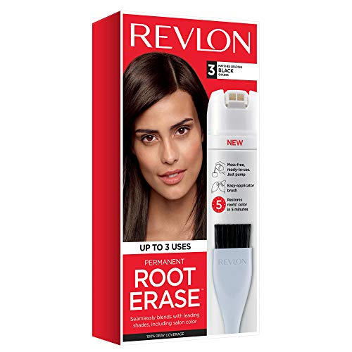 Revlon Root Erase Permanent Hair Color, Root Touchup Hair Dye, Black, 3.2 Fluid Ounce
