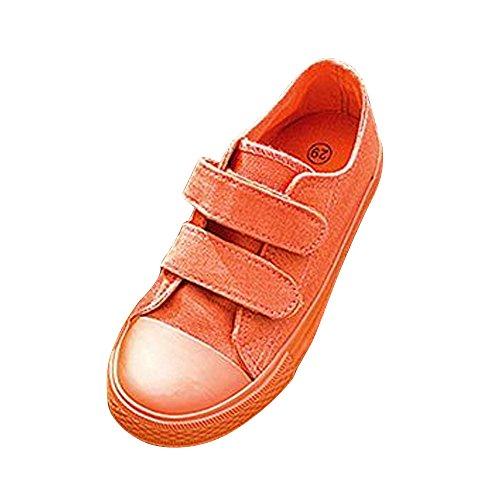 OCHENTA Kinder Mädchen Jungen Sneaker Turnschuh Sportschuhe Klettverschluss Freizeit Orange