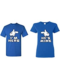 Couple Matching Cartoon Hands I'm Hers - He's Mine T-Shirt