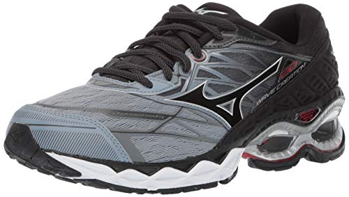Mizuno Men's Wave Creation 20 Running Shoe, Trade Winds-Black, 12 D US