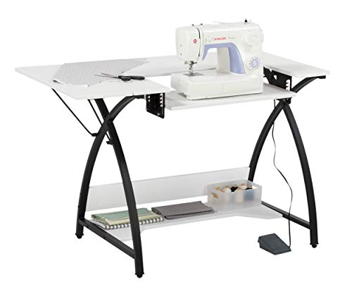 SD STUDIO DESIGNS Studio Designs Comet Sewing Table, - Machines Sewing White