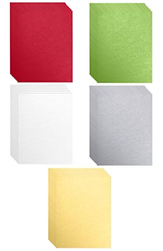 8 1/2 x 11 Cardstock - Assorted Metallic Holiday (250 Qty.) | Perfect for Holiday Crafting, Invitations, Scrapbooking and so much more! | 81211-C-HMETALLICPACK-5 by Envelopes.com