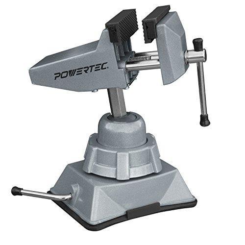 POWERTEC 71016 Vacuum Base Vise - 2-¾