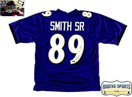 Steve Smith Sr Autographed/Signed Baltimore Ravens Purple Custom - Custom Clothing Sr
