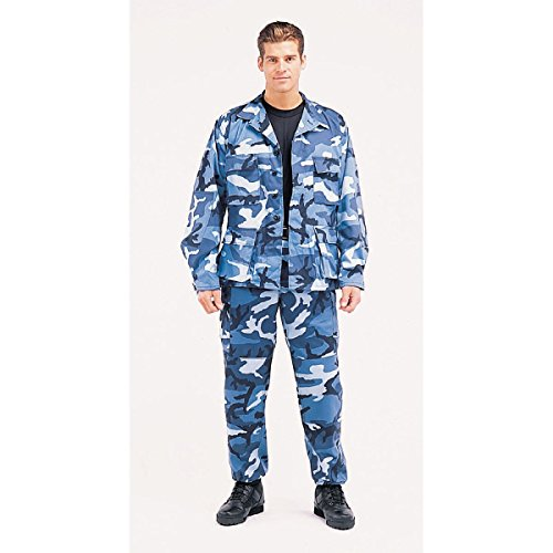 Rothco BDU Uniform Set - Sky Blue - SML - Sky Blue Camo Bdu Shirt