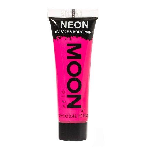 Moon Glow - 0.42oz Blacklight Neon UV Face & Body Paint - Intense Pink