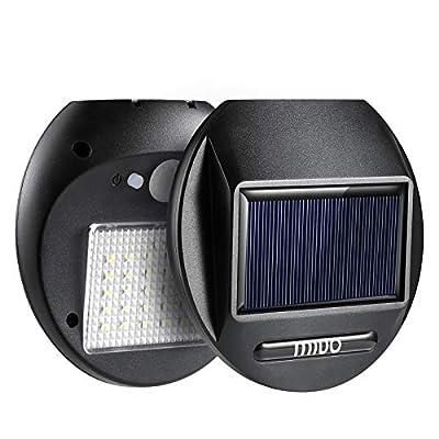 MIUO 2 Pack Solar Motion Sensor Light 30 LED 300lm Solar Security Light Outdoor Wireless Waterproof for Porch Patio Brick Wall Backyard Farm Garage