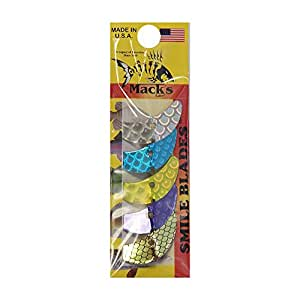 Mack's Lure Smile Blade, Assorted Scale, 1.5-Inch