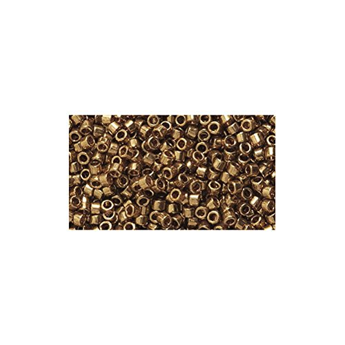 Delica Light (Miyuki Delica Seed Bead 11/0 DB022L, Light Bronze, 9-Gram/Pack)