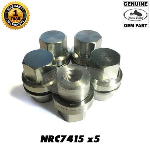 Miami British Wheel Lug Nuts Set x5 RR Classic Defender Discovery I NRC7415 Genuine