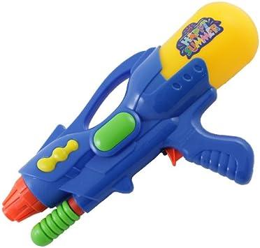 Amos Pump Action Water Gun 33cm Medium Pistol Super Blaster Power Soaker Water Sprayer Squirt Cannon Fun Kids Summer Party Toy Blue Amazon Co Uk Toys Games