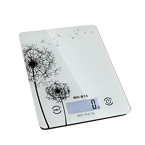 lzn 5 kg/1g Precisión Thin Báscula Digital de Cocina Industrial con función de Key Touch High Precision Sensor, Weiß: Amazon.es