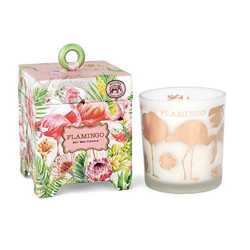 - Michel Design Works 6.5 oz Soy Wax Candle, Flamingo