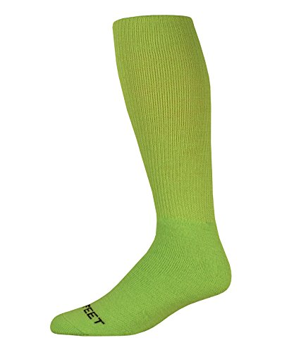 (Pro Feet Multi-Sport Cushioned Acrylic Tube Socks, Lime Green, Medium/Size 9-11)