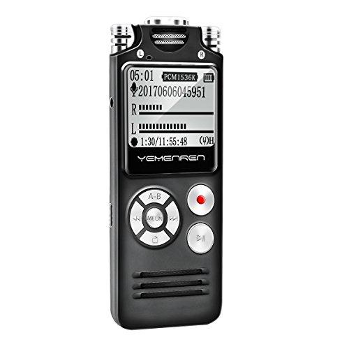 Digital Voice Activated Recorder by Yemenren, 8GB Audio Reco