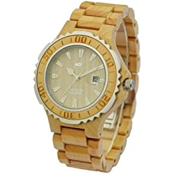 Wood Mark ZS-W1000B Mens Victory Maple wood Watch