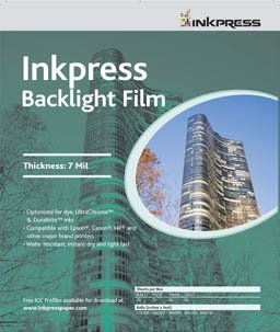 Inkpress半透明インクジェットバックライトフィルム8.5 X 11 100シート   B001THOKMW