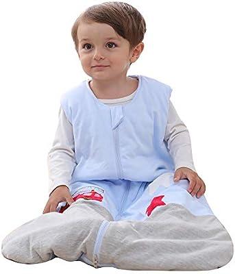 schlabigu Saco de Dormir para bebé, de algodón, Gris y Azul, para ...