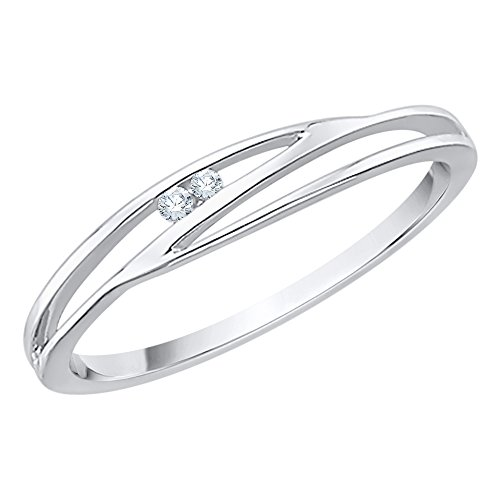 Diamond Accent Fashion Ring in 10K White Gold (I-Color, SI3-I1 Clarity) (Size-12)