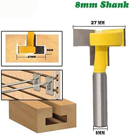 NO LOGO ZZB-ZT, 8mm Schaft T-Slot Fräskante Gerade Stoßen Messer Cutter Fräser Fräsen Schneiden Griff for die Holzbearbeitung (Size : 8mm 1pc)
